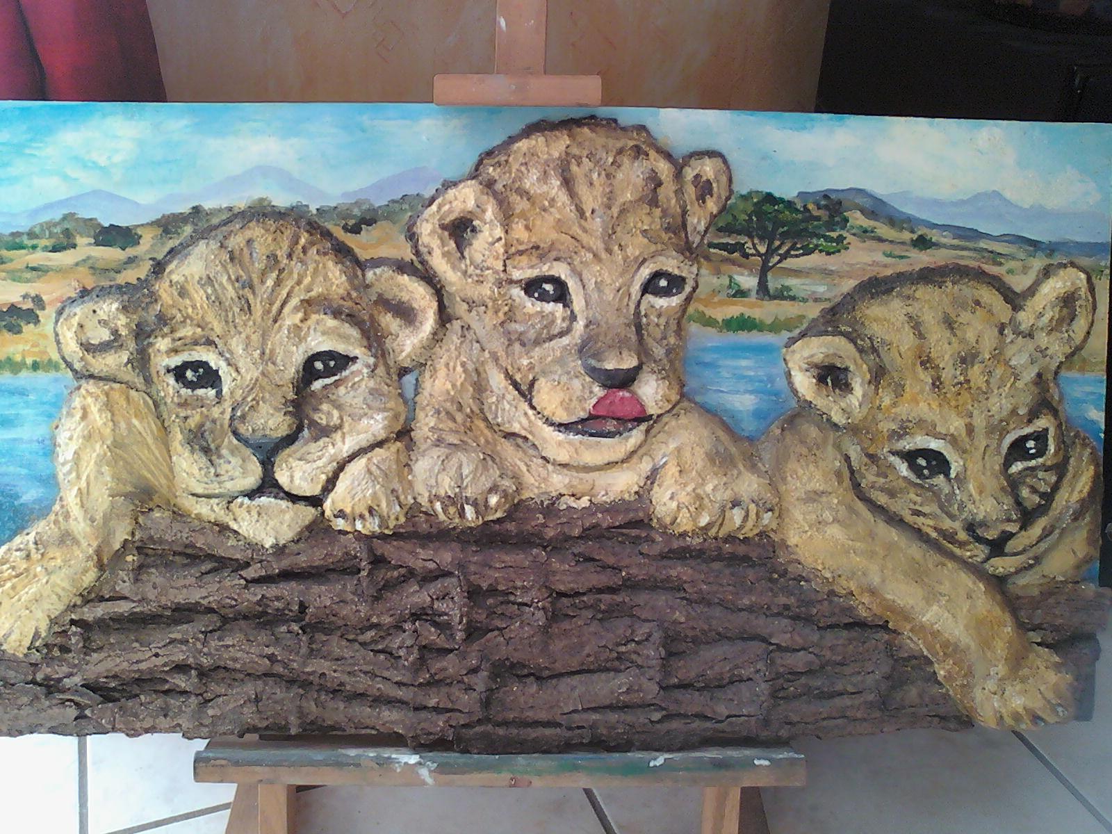 Les  trois fréres lionceaux